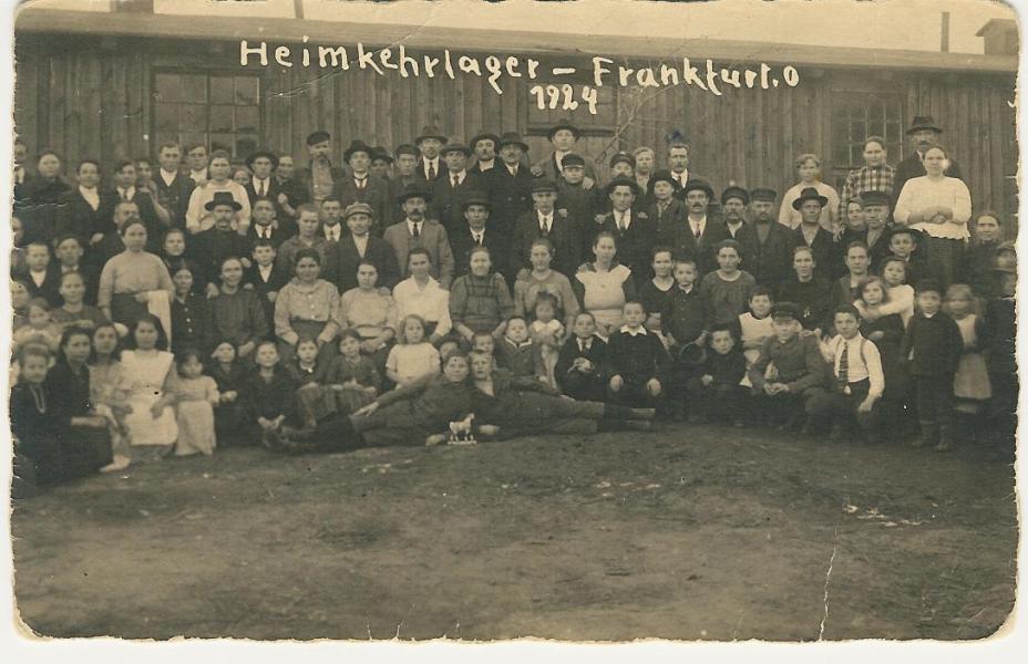 Heimkehrlager Frankfurt/Oder: 1924