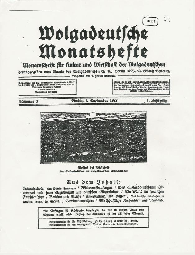 Wolgadeutsche Monatshefte