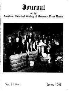 AHSGR Journal Spring 1988